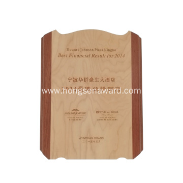 Souvenir Wooden award plaque frame trophy